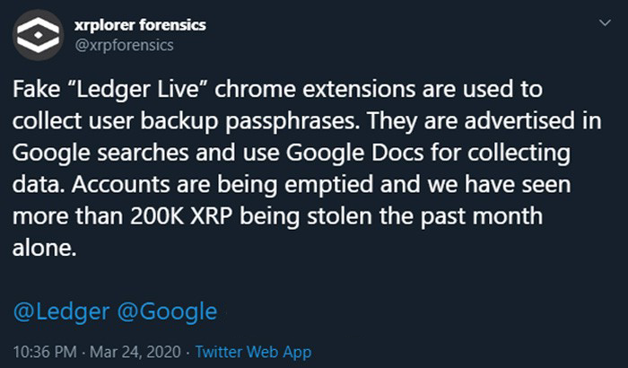 Watch out for the fake plugin XRP
